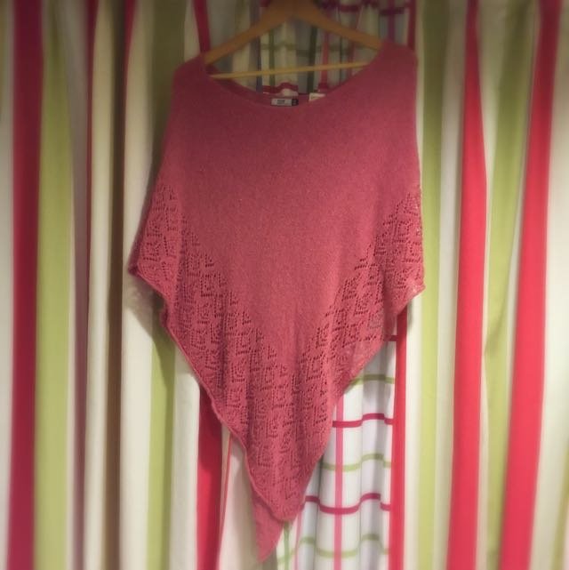 粉紅針織罩衫