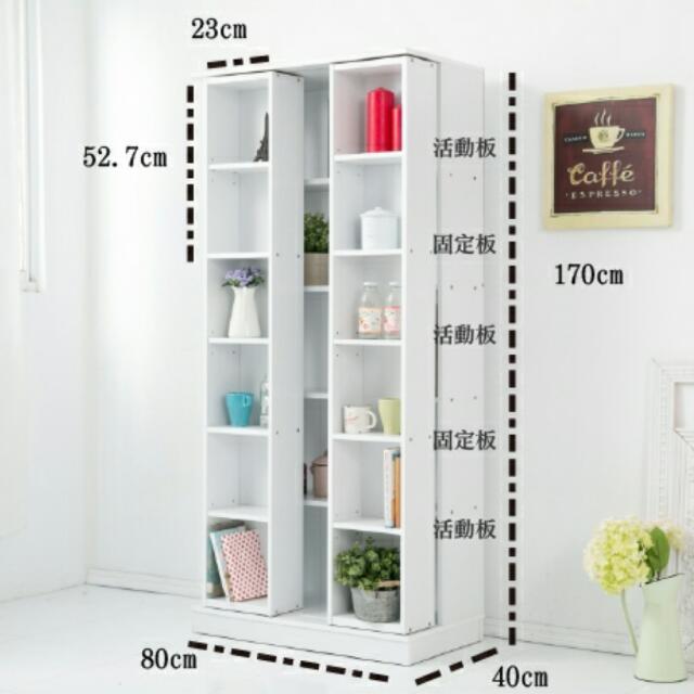 🏡歐洲白淨雙層活動書櫃 (DIY )