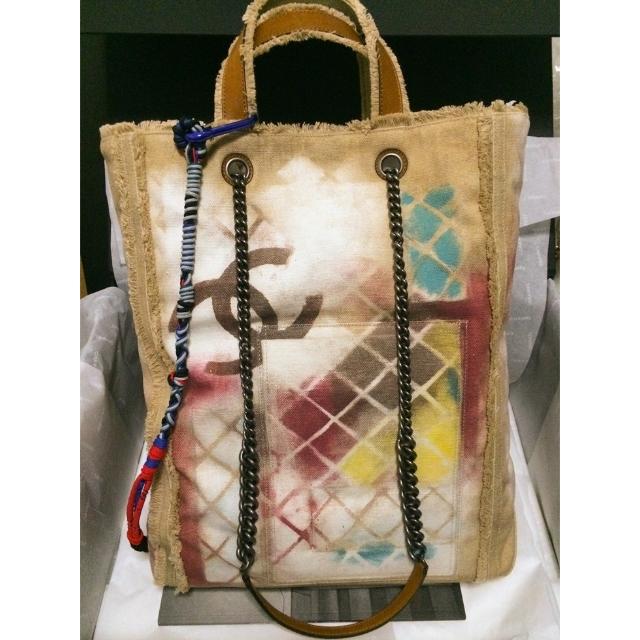 41ccddb2cbdb90 Chanel GRAFFITI PRINTED CANVAS LARGE TOTE BAG on Carousell