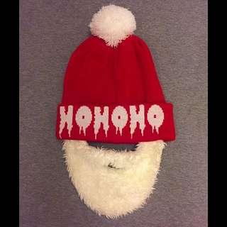 可混買!H&M 聖誕萬聖系列毛帽!可拆鬍子!