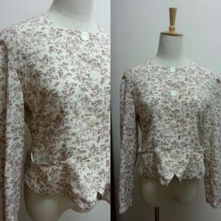 Vintage Shabby Chic Floral Blouse