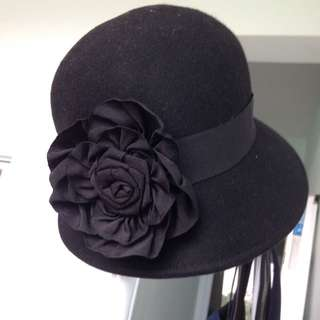 Forever 21 Wool Hat With Flower