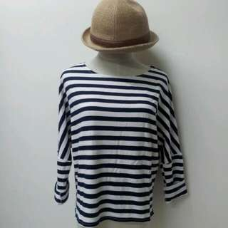 Elbow Patch Stripe Top