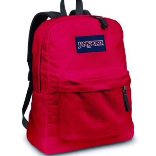 Jansport後背包(紅)