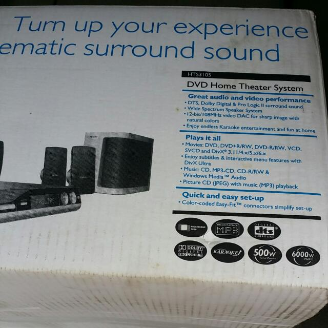 Phillips DVD Home Theater System HTS3105