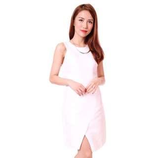 The Twelve Inch Herald Cut In Dress (White) SALE