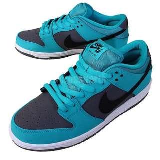 Nike Dunk Low Pro SB 湖水綠 蒂芬尼藍 黑灰 麂皮 厚鞋舌 滑板鞋