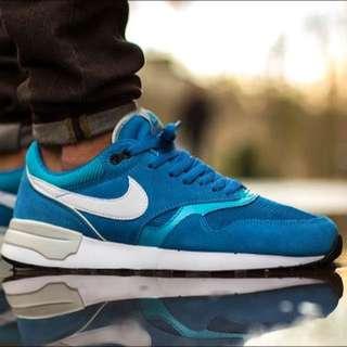 NIKE AIR ODYSSEY 寶藍 白勾 麂皮 復古慢跑鞋 Air Max系列