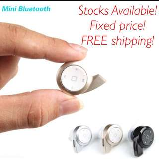 (PLS READ DESCRIPTION BEFORE ASKING!) Black Color Bluetooth In-ear Headphones (can Play Music) Stocks Available!