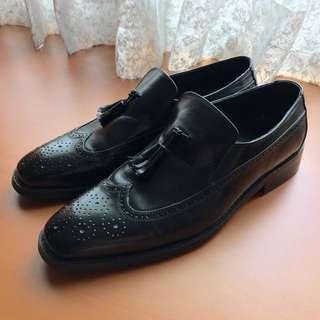 特殊復古雕花真皮皮鞋
