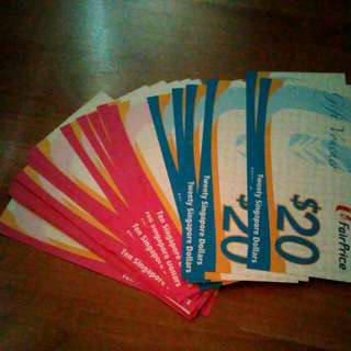 NTUC vouchers $470