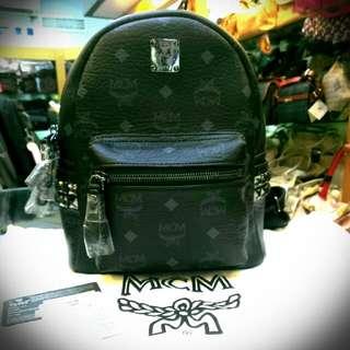 MCM-mini經典後背包(黑色)