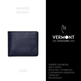 Dompet Kulit VERMONT V83-A003 Navy Blue