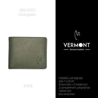 Dompet Kulit VERMONT V83-A003 Olive Green