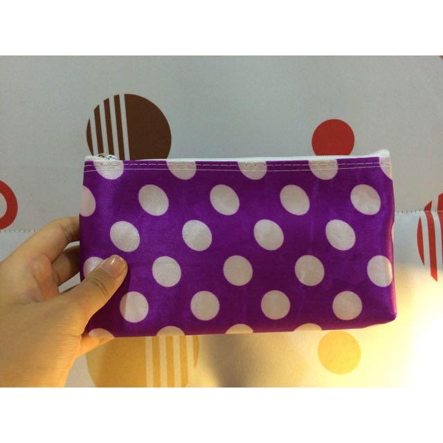 紫色白點點包