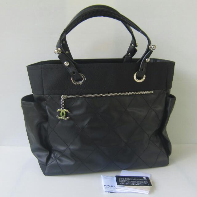 3eb0323eedd1 100% Authentic Chanel Paris Biarritz GM Tote Bag