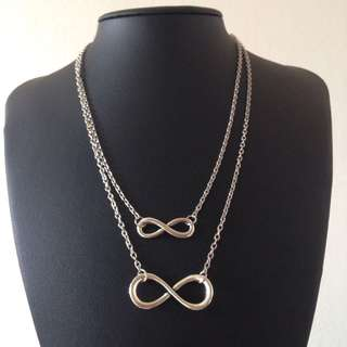 Infinity Layer Silver Necklace