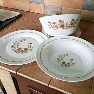 Pyrex (JAJ) Large Plate / Bowl - Country Autumn