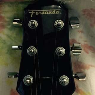fernando accoustic guitar with bag (almost new)