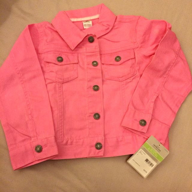 332c6f95a740 BNWT) Authentic Carter s Pink Denim Jacket For Girls