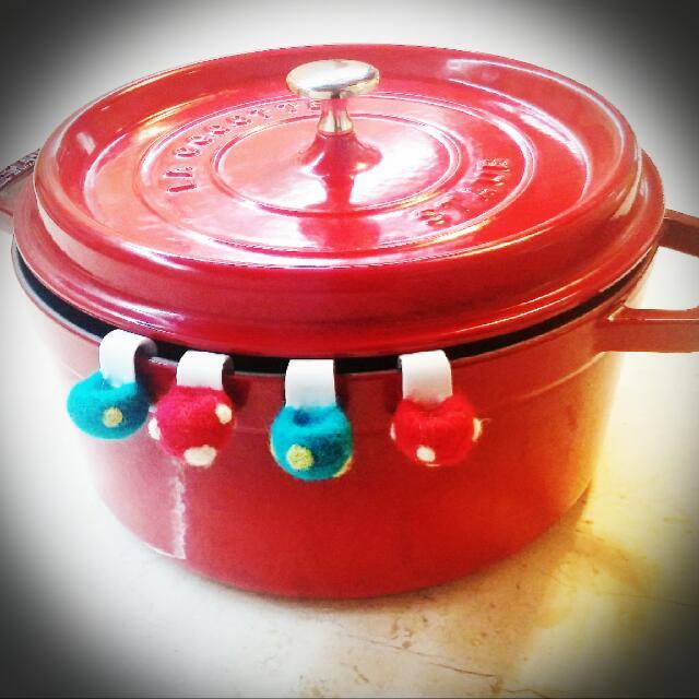 生活主張❤LC鑄鐵鍋~專屬防刮鍋釦🍄蘑菇口味