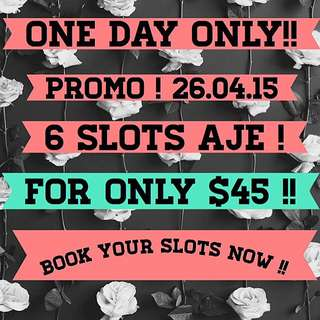 One Day Only Make Up Promo