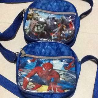 PRE-LOVED SLING BAGS - TRANSFORMERS & SPIDER-MAN