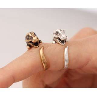 [PO] My Pet T-Rex Ring - Quirky & Vintage, Perfect Gift for Dinosaur Lovers [ Gold | Silver ]