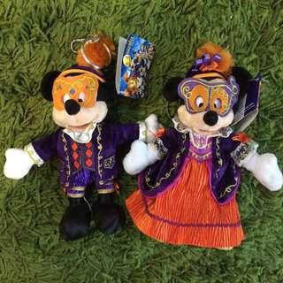 絕版Disneyland HK香港迪士尼萬聖節版米奇米妮鑰匙圈