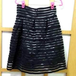 Sixties Black Stripe Skirt