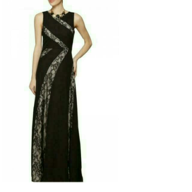 FINAL PRICE Brand New BCBGMAXAZRIA Lace Cut Out Evening Dress