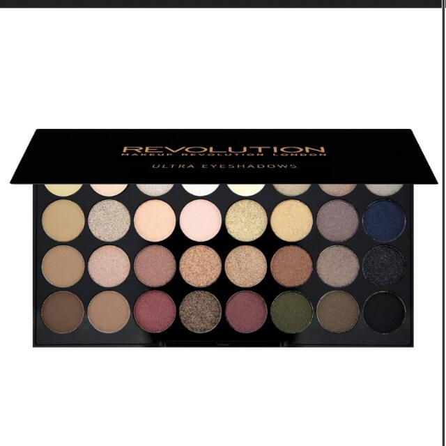 (現貨)英國彩妝Makeup revolution  Ultra 32 Shade Eyeshadow Palette FLAWLESS