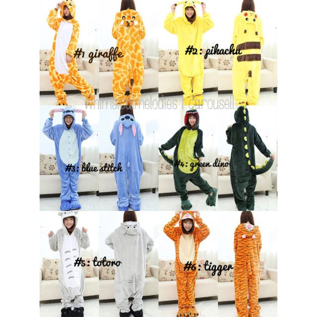 PO SUPER COMFY CHARACTER/ANIMAL ONESIES!