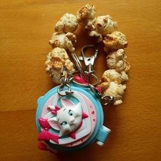 迪士尼正版瑪麗貓爆米花鑰匙圈