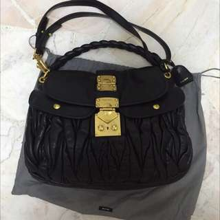 5de13b7ca182 Miu Miu Matelasse Coffer Bag (Black)