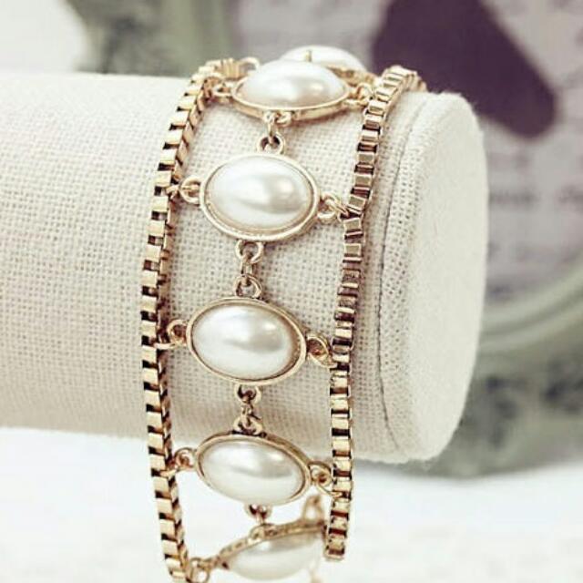 異國風情公主珍珠收手環
