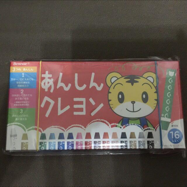 日本帶回 巧虎 無毒苦味蠟筆 16色 日本製 特價$500 免運