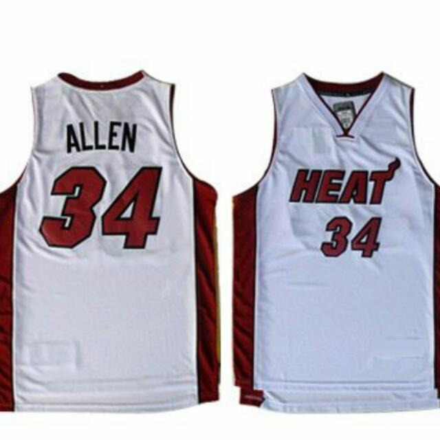 hot sale online 15cff aa557 NBA MIAMI HEAT RAY ALLEN JERSEY, Men's Fashion on Carousell