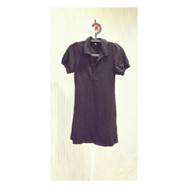 ★無印良品★黑長polo衫