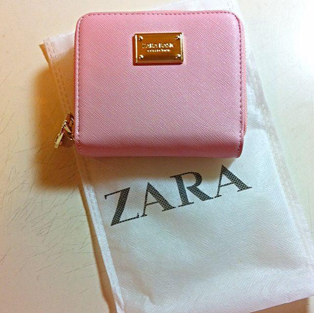 Zara淡粉色皮夾