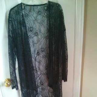 H&M Long Cardigan Size: XS ( Fits S,M) Condition: Worn Twice   Color:black