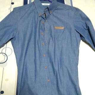 韓國製紳士襯衫 藍
