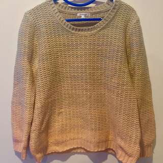 CHEAPER NOW!! Champagne Knitted Sweater
