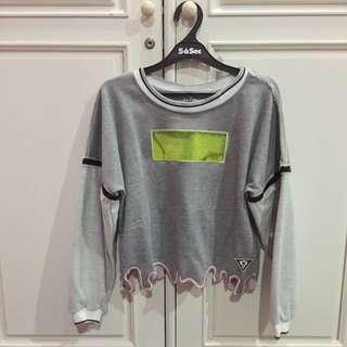 Detachable Sleeves Sweatshirt