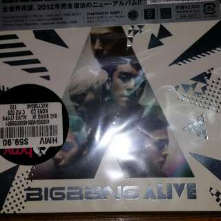 (Price Reduced) Big Bang Alive CD In Japanese
