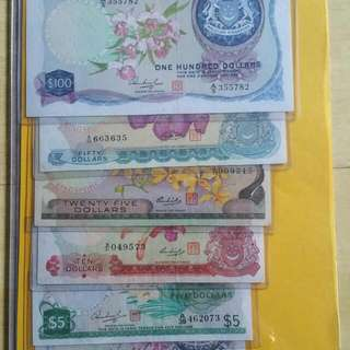 $100 $50 $25 $10 $5 $1 Old Orchid Note Selling @$550(without Frame) With Frame @$680 Interested Please PM me For More Details