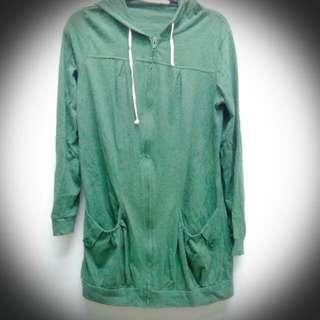軍綠色休閒外套