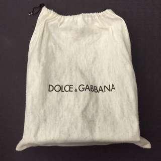 DOLCE&GABBANA (D&G) 復古金屬鍊包 巧克力色