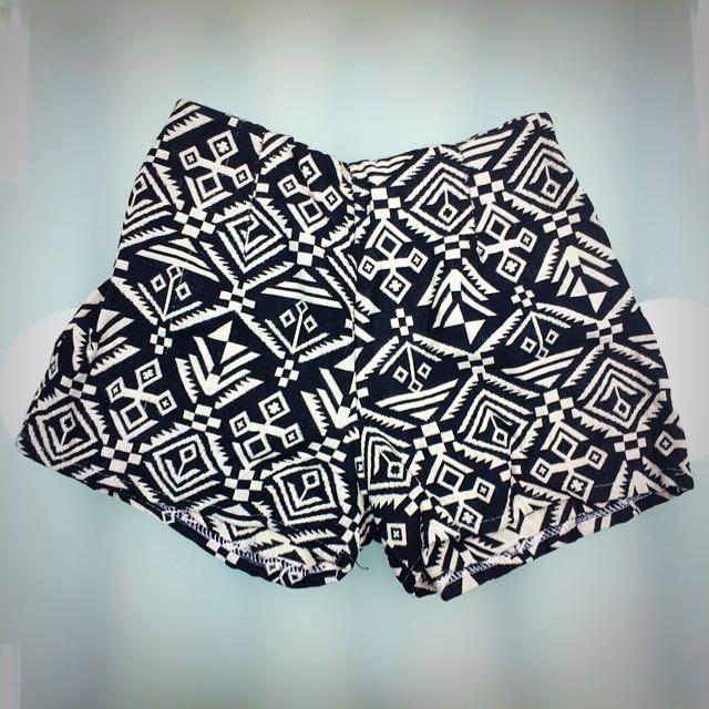 民族風短褲