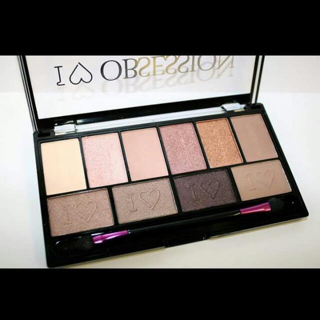 現貨 英國彩妝 Makeup revolution  I♡obsession 全新